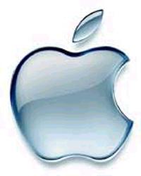 logo apple metal